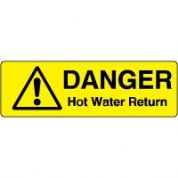 Markers safety sign - Hot Water Return 008